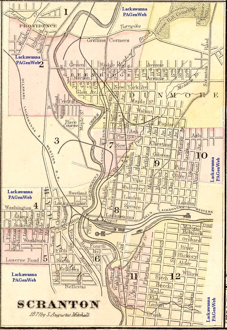 Lackawanna County PA Maps